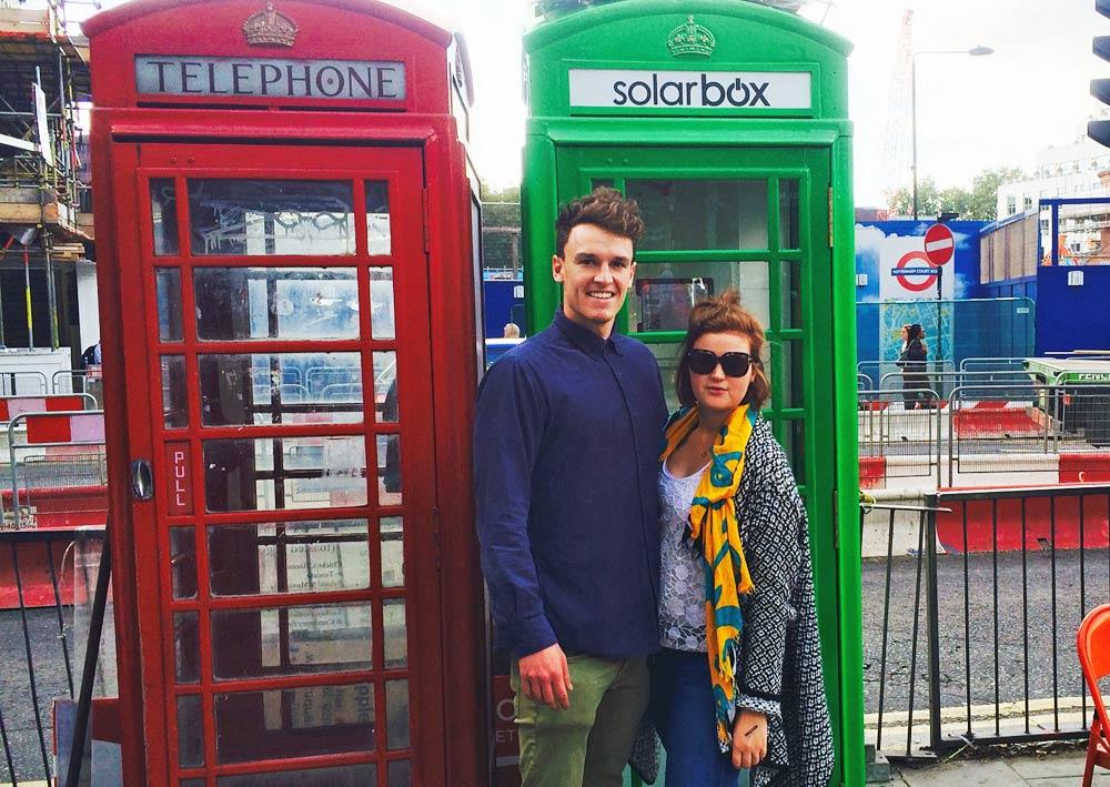 Londons röda telefonkiosker blir gröna