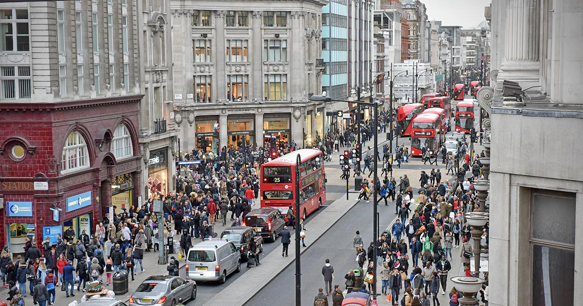 Oxford Street - shoppinggata i London