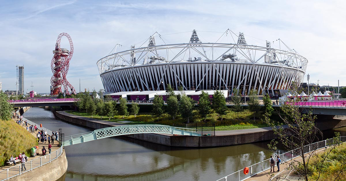 ArcelorMittal Orbit och Olympiska parken i London