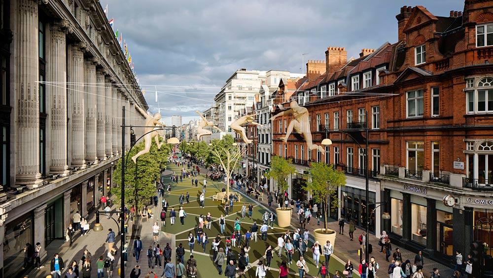 Londons Oxford Street blir bilfritt