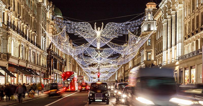 Jul i London - julbelysning, marknader och julshopping